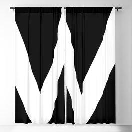 monogram v- black and white Blackout Curtain
