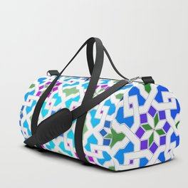 Beautiful oriental flower pattern 7 blue, green Duffle Bag