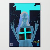 england Canvas Prints featuring England by Kingdom Of Calm - Print On Demand