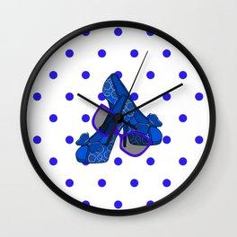 Fashion On Blue Wall Clock