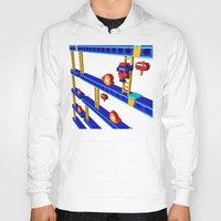 donkey kong Hoodies featuring Inside Donkey Kong stage 4 by Metin Seven