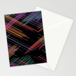 Colored Lines Stationery Cards