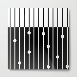 Combined black and white pattern . Metal Print