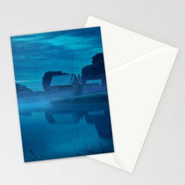 Contryside blue morning Stationery Cards