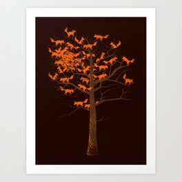 Blazing Fox Tree II Art Print