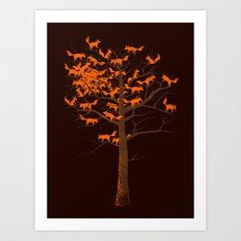 Blazing Fox Tree II Art Print