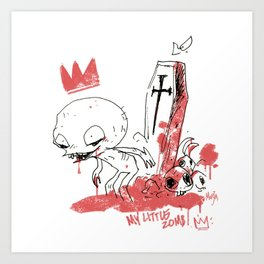 My little zombie Art Print