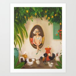Extraodinary Chickens Art Print