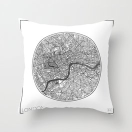 London Map Universe Throw Pillow
