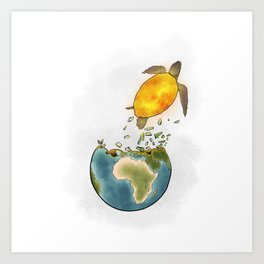 Climate changes the nature Art Print