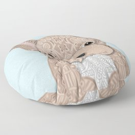 Beige Frenchie Puppy 001 Floor Pillow