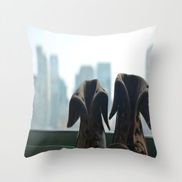 A mile in these shoes Throw Pillow