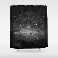 dear Shower Curtains featuring STARGAZING IS LIKE TIME TRAVEL by Amanda Mocci