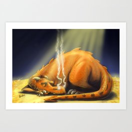 Let Sleeping Dragons Lie Art Print