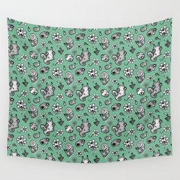 pattern with snail and scull Wall Tapestry