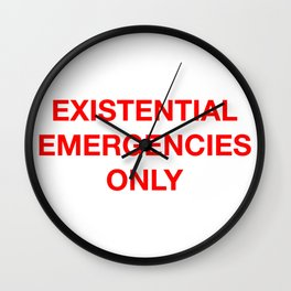 Existential Emergency Phone Wall Clock
