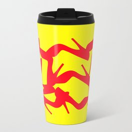 Shoe Fetish (Version 2) in Red and Yellow by Bruce Gray Metal Travel Mug