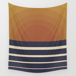 Retro Sunset Wall Tapestry