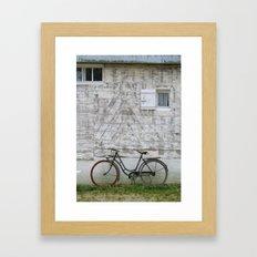 Bicyclette Normandie Framed Art Print