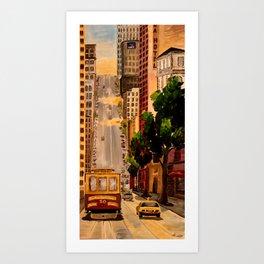 San Francisco Van Ness Cable Car Art Print