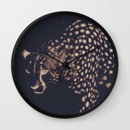 Night cheetah Wall Clock