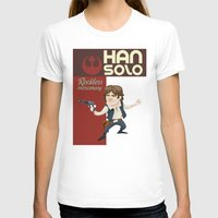 han solo T-shirts featuring Han Solo by Alex Santaló