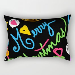 A Doodle Merry Christmas Rectangular Pillow
