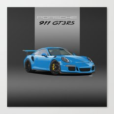 2016 Porsche 911 GT3 RS in Mexico Blue Canvas Print