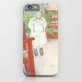 Girl And Rocking Chair - Carl Larsson iPhone Case