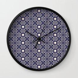Pattern art curtain 2 Wall Clock