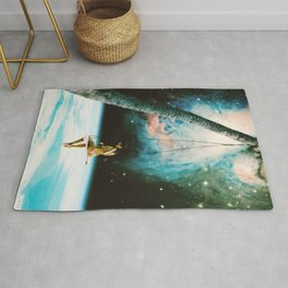 Hanging Out In Space Rug