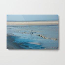 Blue sand of the sea Metal Print