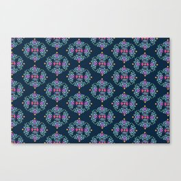 Royal Gardens (Navy) Canvas Print