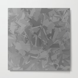 Gray cement stone camouflage Metal Print