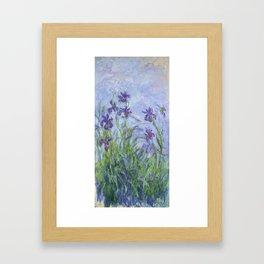"""Claude Monet """"Iris mauves"""" Framed Art Print"""