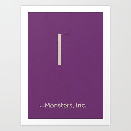 Pixar's Monsters, Inc. Art Print