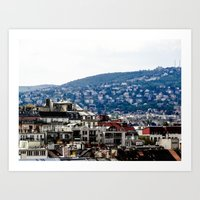 budapest Art Prints featuring Budapest by Petra Horvath