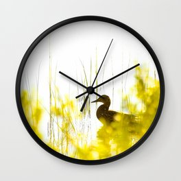 Bird by the lake #decor #society6 #buyart Wall Clock