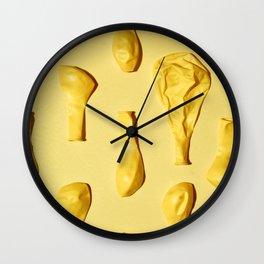 Yellow Balloons Wall Clock