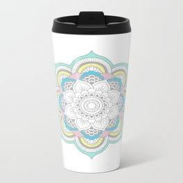 Pastel Mandala Metal Travel Mug