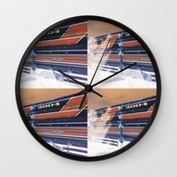 ford Wall Clocks featuring Ford by czossi