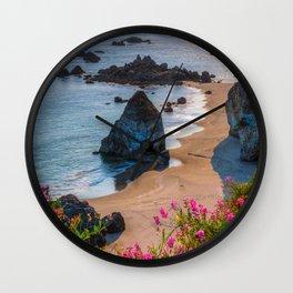 Rocky Oregon Coast Wall Clock