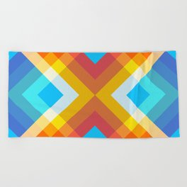 Abstract Retro Pattern 10 Beach Towel