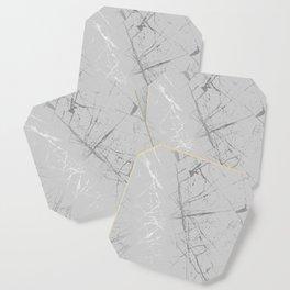 Silver Splatter 089 Coaster