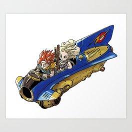 Chrono Trigger Jetbike Race Art Print