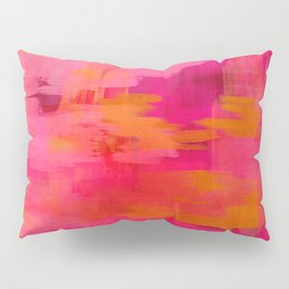 """""""Abstract brushstrokes in pastel pinks and oranges decorative pattern"""" Pillow Sham"""