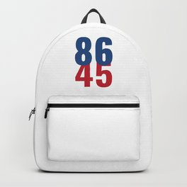 86 45 Anti Trump Impeachment T-Shirt / Politics Gift For Democrats, Liberals, Leftists, Feminists Backpack