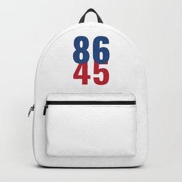 86 45 Anti Trump Impeachment T-Shirt / Politics Gift For Democrats, Liberals, Leftists, Feminists Backpack
