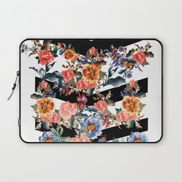 Colored flowers with black lines Laptop Sleeve