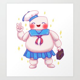 Stay Puft and Cute Art Print